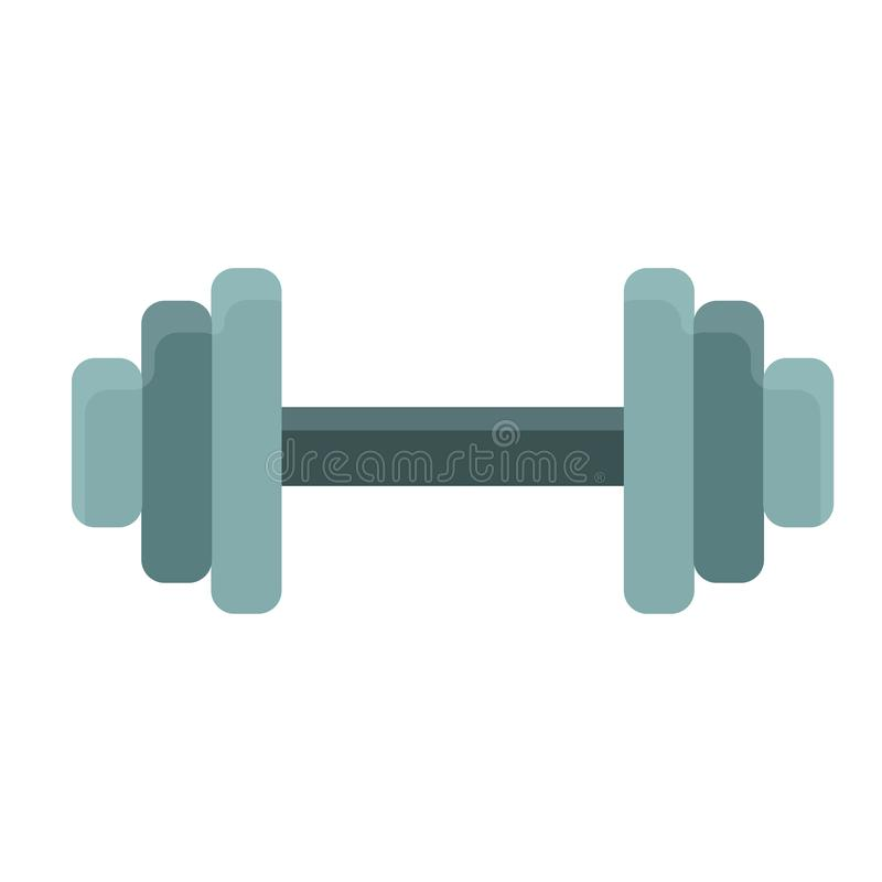 Dumbbell athletic active gym vector icon shape. Muscular biceps sporty fitness workout. Exercise metal equipment.  stock illustration
