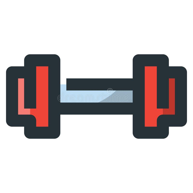 Dumbbell Barbell Vector Filled Line Icon 32x32 Pixel Perfect. Ed. Itable 2 Pixel Stroke Weight. Colorful Medical Health Icon for Website Mobile App Presentation vector illustration