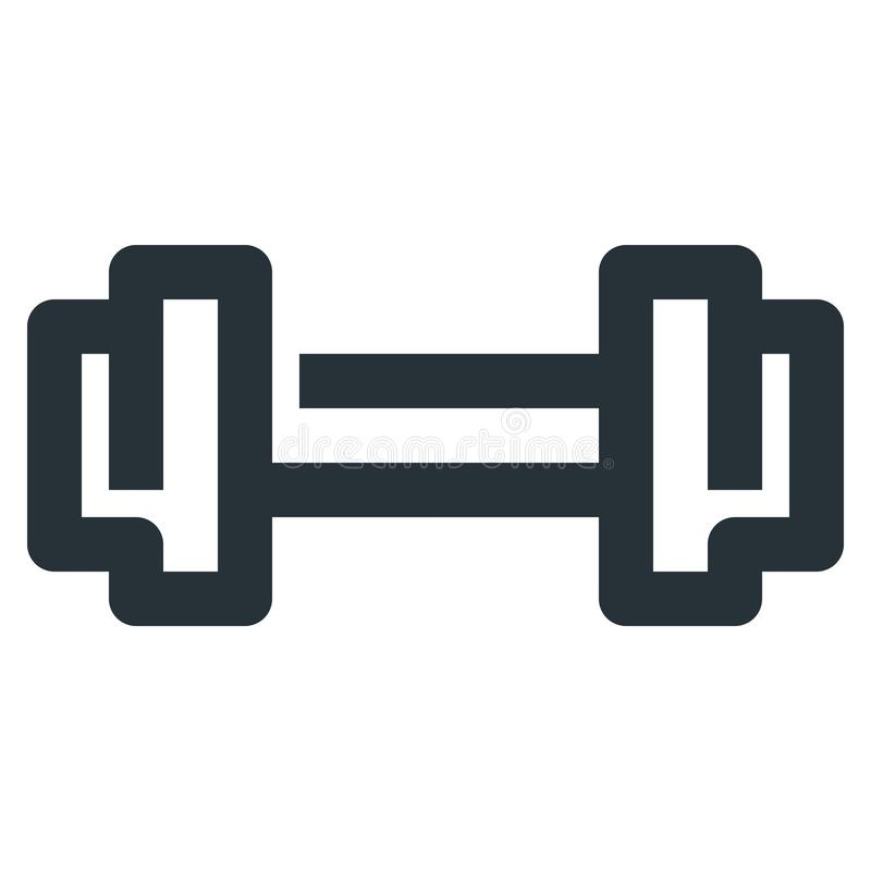 Dumbbell Barbell Vector Line Icon 32x32 Pixel Perfect. Editable. 2 Pixel Stroke Weight. Medical Health Icon for Website Mobile App Presentation royalty free illustration