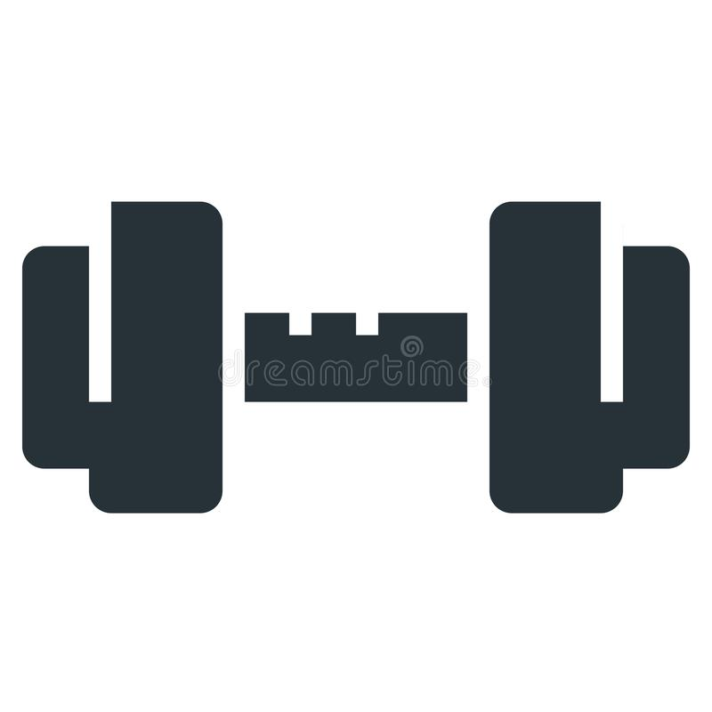 Dumbbell Barbell Vector Line Icon 32x32 Pixel Perfect. Editable. 2 Pixel Stroke Weight. Medical Health Icon for Website Mobile App Presentation vector illustration