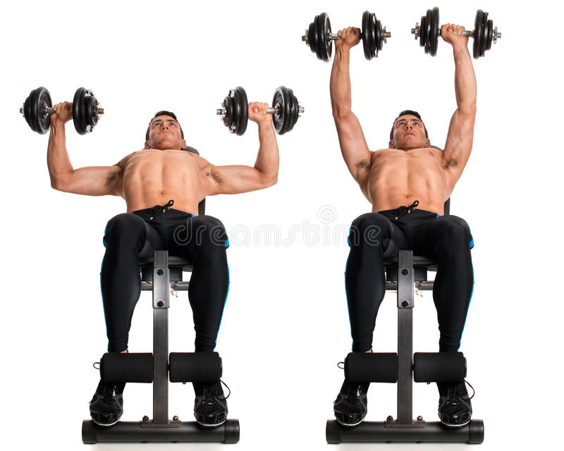 Dumbbell Chest Press stock photography