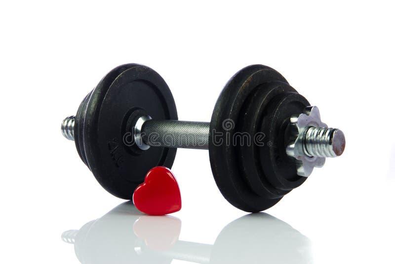 Download Dumbbell Ciężar Odizolowywający Na Białym Tło Sporta Przedmiota Sercu Zdjęcie Stock - Obraz złożonej z trening, zdrowy: 53784382