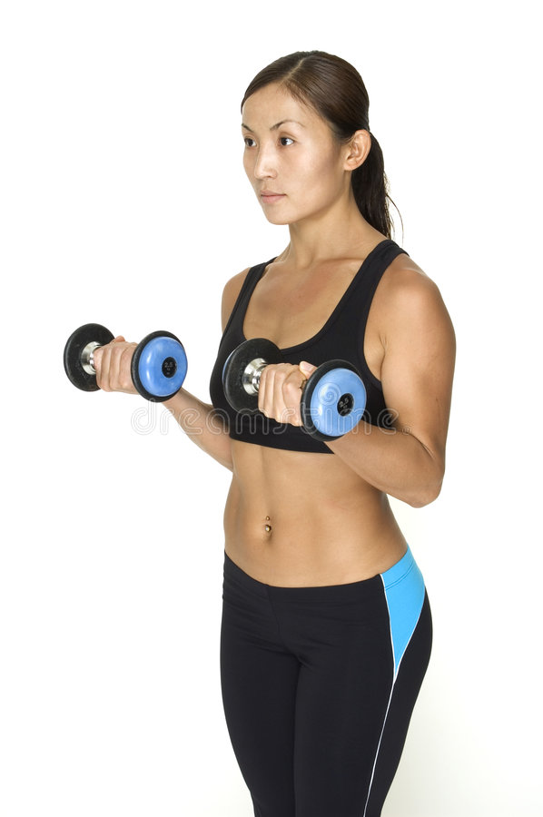 Download Dumbbell Curl 4 stock image. Image of professional, trainer - 118903