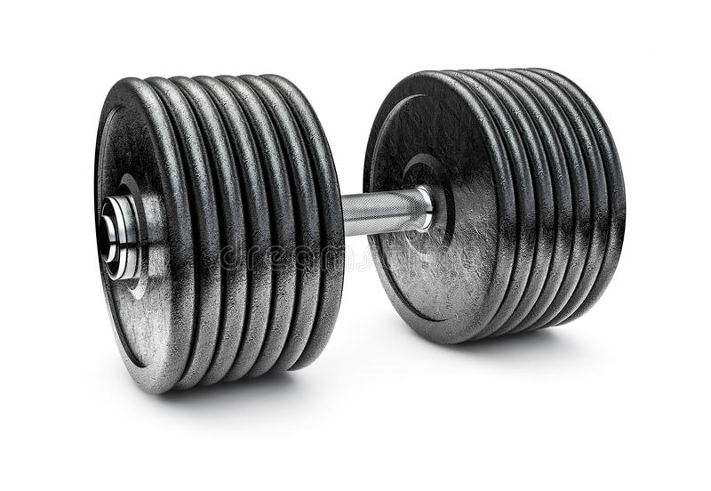 Download Dumbbell stock illustration. Image of pump, muscle, black - 30636495