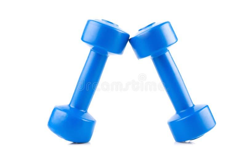 Dumbbell de dois azuis fotos de stock