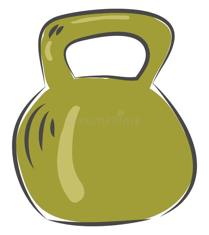 Dumbbell for exercise workout equipment illustration basic RGB vector. On white background royalty free illustration