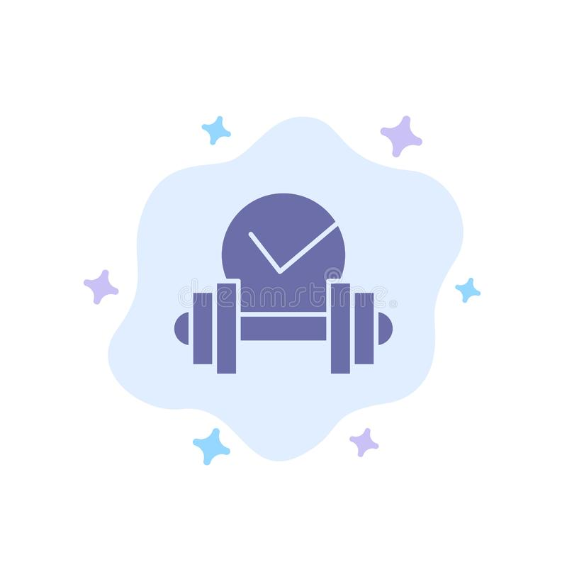 Dumbbell, Healthcare, Dumb, Sport Blue Icon on Abstract Cloud Background(抽象云背景上的蓝色图标) 库存例证