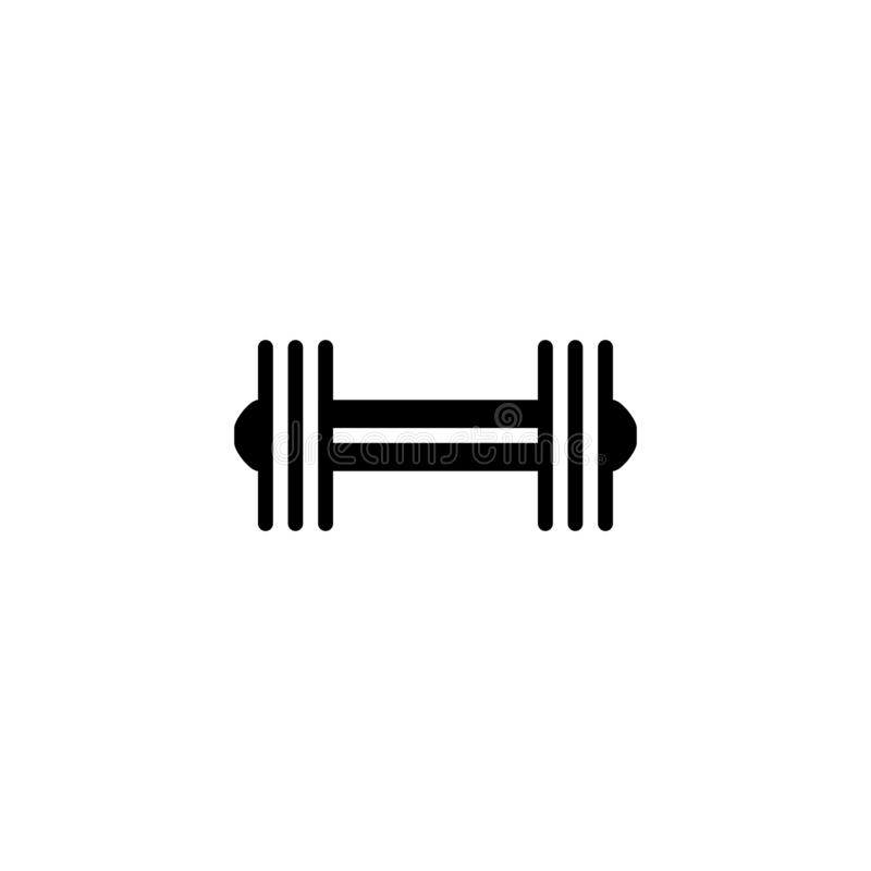 Dumbbell icon. Body building tool symbol. Dumbbell, icon, barbell, fitness, gym, illustration, equipment, weight, athletic, exercise, bodybuilding, health, heavy royalty free illustration