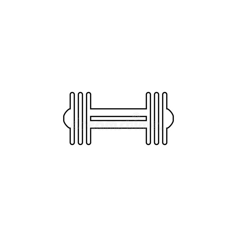 Dumbbell icon. Body building tool symbol. Dumbbell, icon, barbell, fitness, gym, illustration, equipment, weight, athletic, exercise, bodybuilding, health, heavy stock illustration