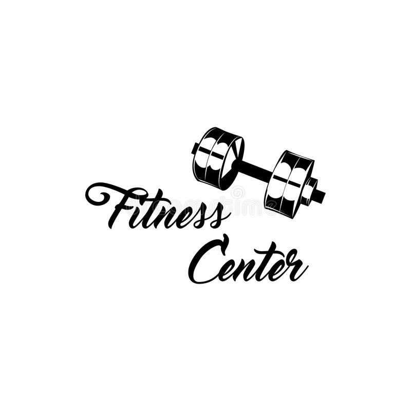 Dumbbell icon. Fitness center symbol. Vector illustration. royalty free illustration