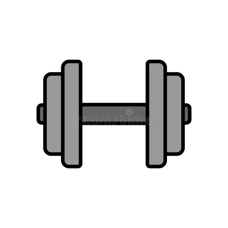 Dumbbell Icon Fitness Equipment For Hand Muscle Workout In The Gym Simple Graphic Stock Illustration Illustration Of Clipart Fitness 141048674
