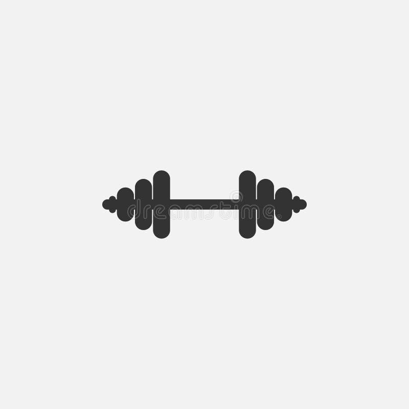 Dumbbell ikona, ciężar, sprawność fizyczna, ćwiczenie royalty ilustracja
