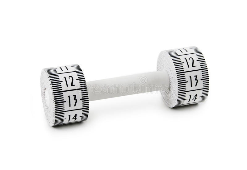 Download Dumbbell Made Of Tape Measure Stock Image - Image: 10258727