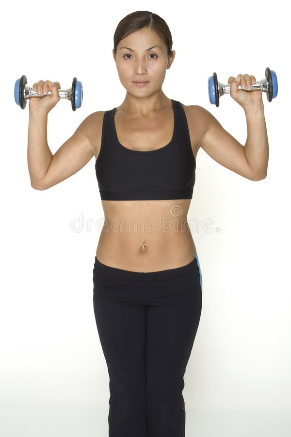 Download Dumbbell Press 1 stock image. Image of weights, fitness - 119349
