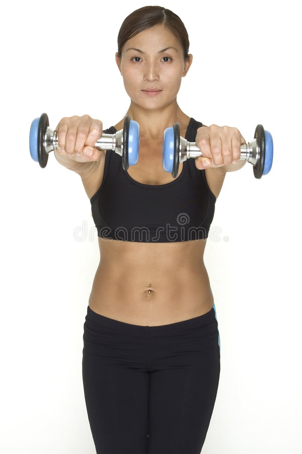 Download Dumbbell Raise 2 stock photo. Image of professional, isolated - 119350
