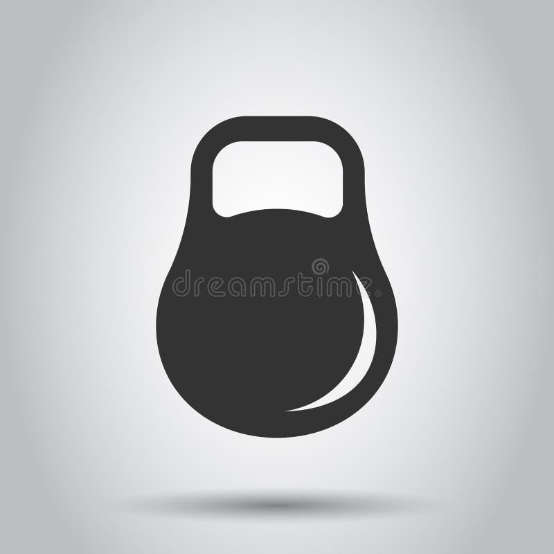 Dumbbell sprawności fizycznej gym w mieszkanie stylu Barbell ilustracja na białym tle Bodybuilding sporta pojęcie ilustracji