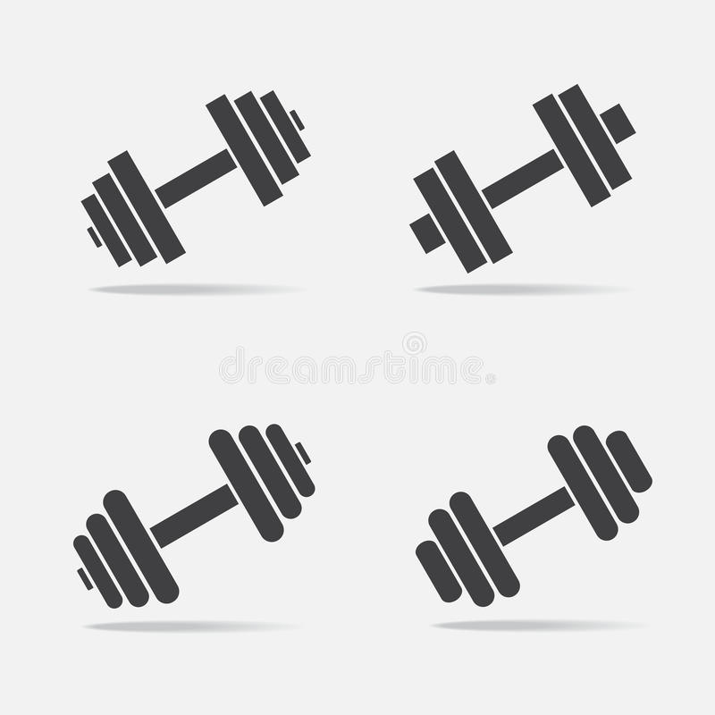 Dumbbell Icon Vector Dumbbell vector icon s...