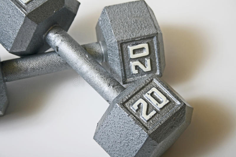 Two Crossed Dumbbells Stock Photo  Image Of Pounds