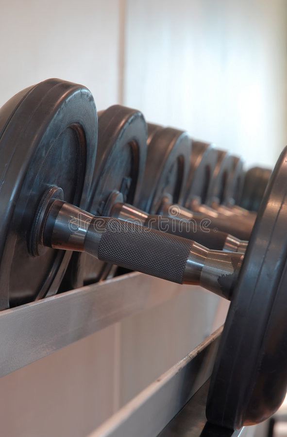Download Dumbbells stock photo. Image of heartrate, stationary - 1306520