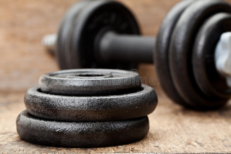 Dumbbells Royalty Free Stock Photos