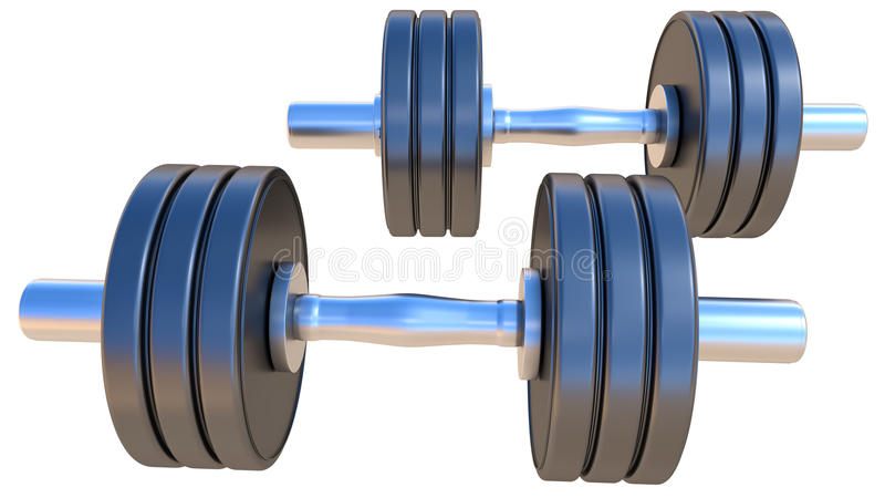 dumbbells photographie stock libre de droits