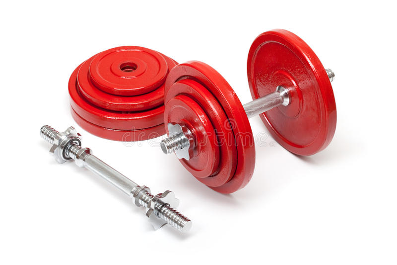 Dumbbells for body building royalty free stock image