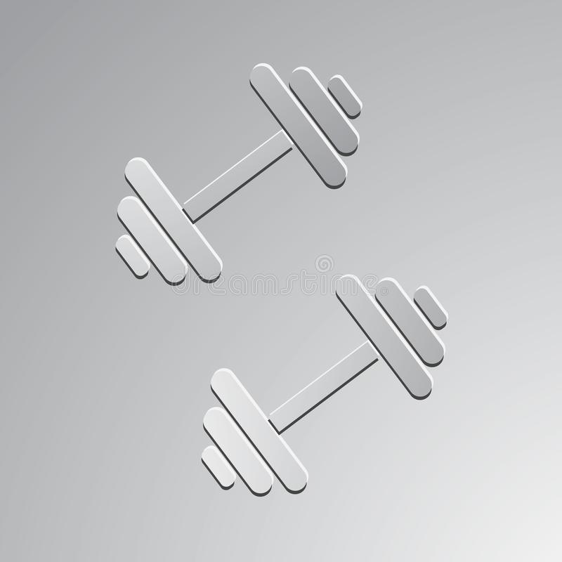 Dumbbells for gym. Vector icon stock illustration