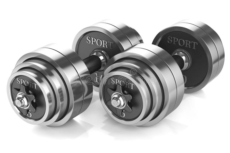 Dumbbells stock illustration