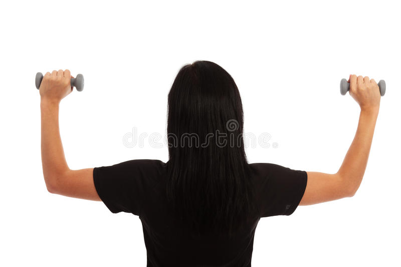 dumbell άσκηση στοκ εικόνα