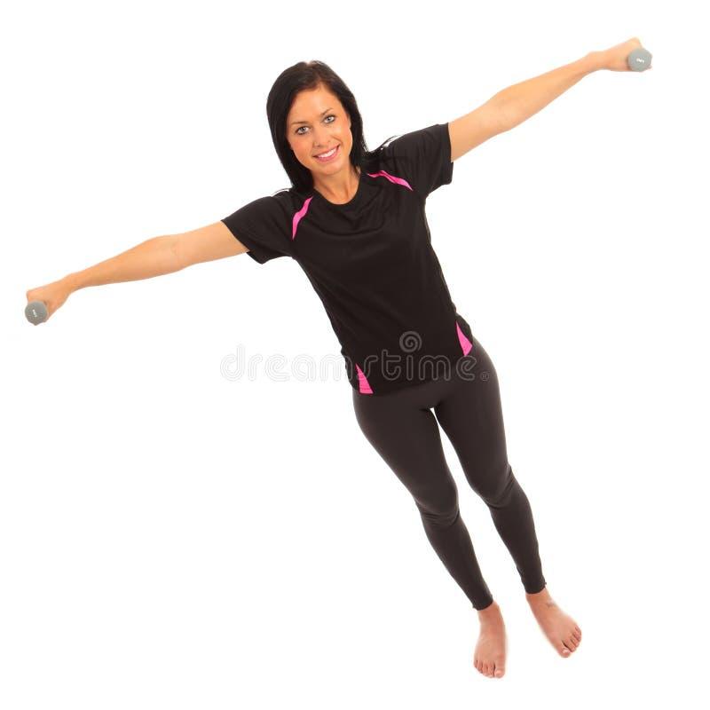 dumbell άσκηση στοκ φωτογραφία