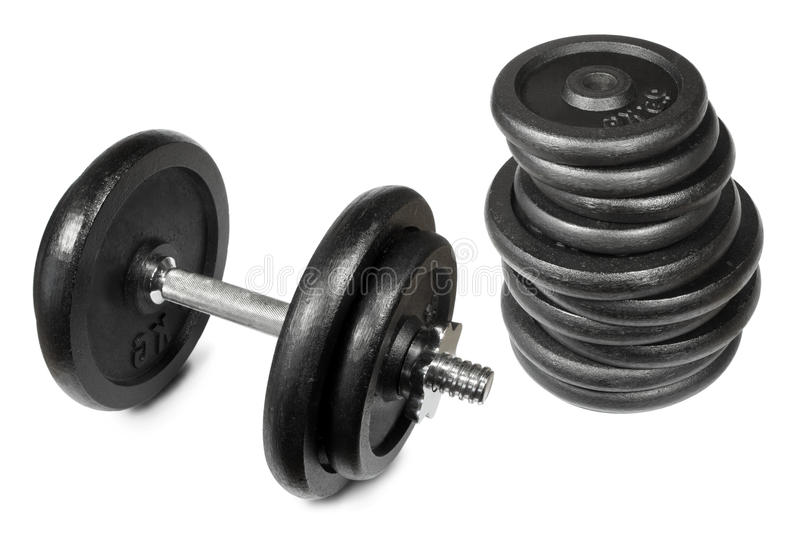 Dumbell images stock