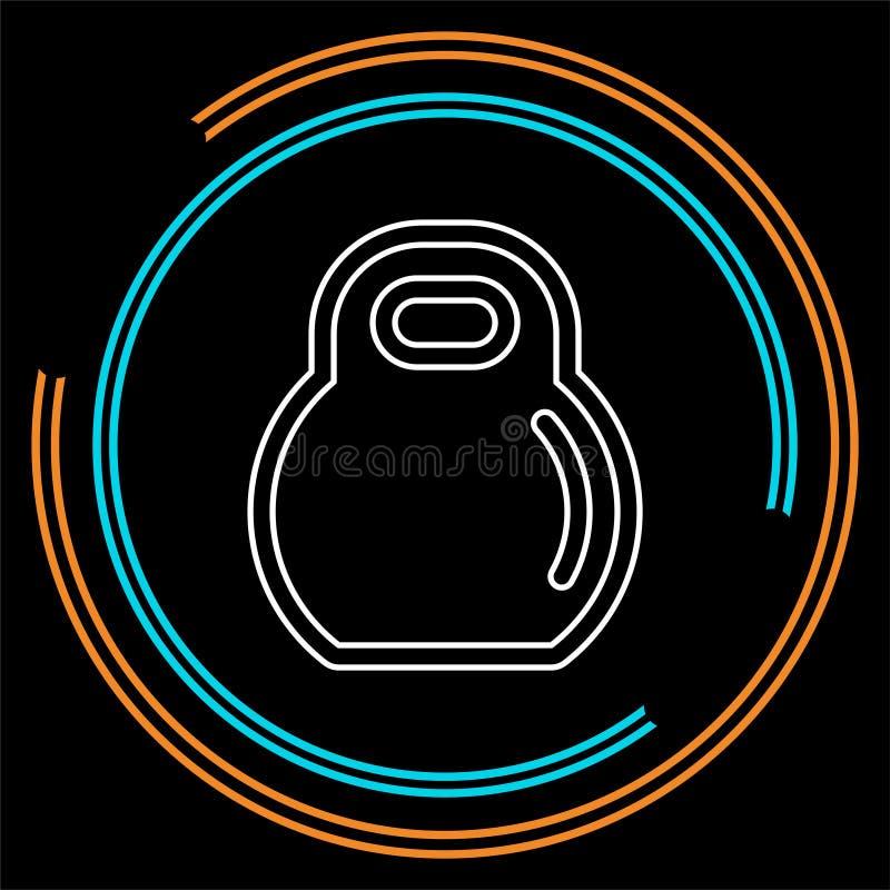 Dumbell ikona, wektorowy gym barbell, wagi ciężkiej podnośna ilustracja, bodybuilding, bawi się ikonę ilustracja wektor