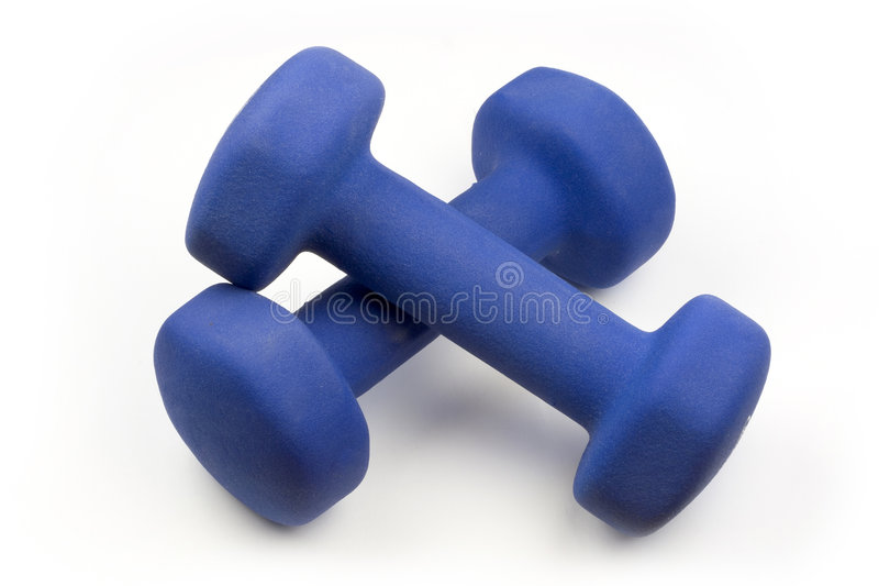 Dumbells. Free Weights Dumbells royalty free stock photos