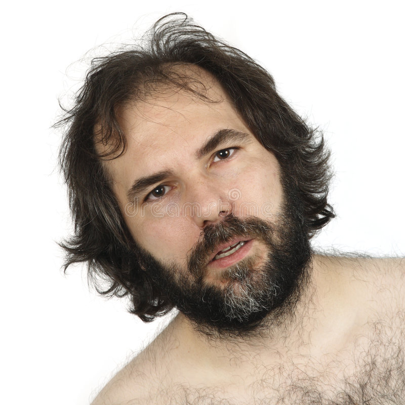 Download Dumbfounded stock photo. Image of hair, facial, shirtless - 7452720
