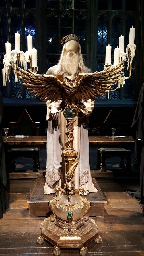 Dumbledore przy jego podium zdjęcie stock