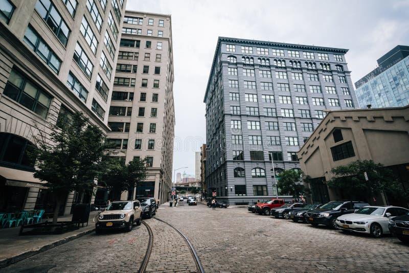 DUMBO的,布鲁克林,纽约缅街 免版税库存图片