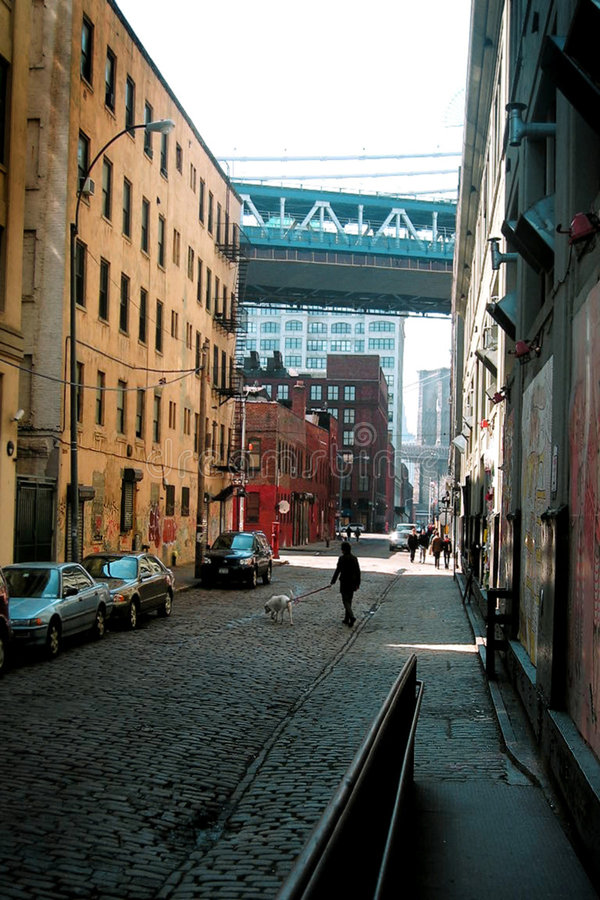 Download DUMBO alley. stock image. Image of architecture, contrast - 34683