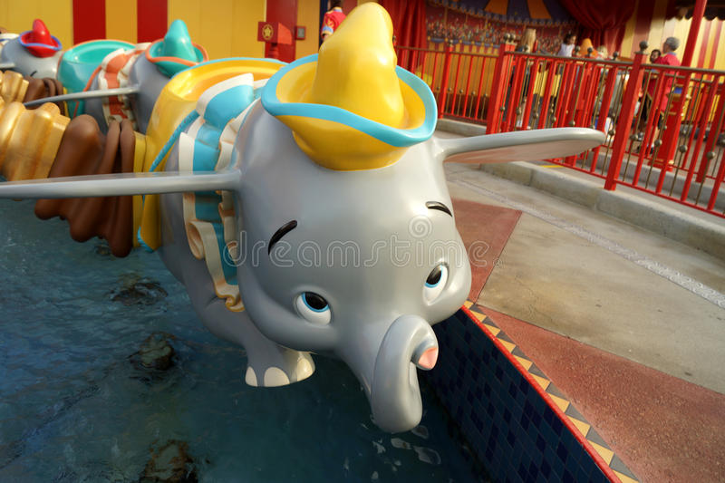 Dumbo the Ride royalty free stock photos