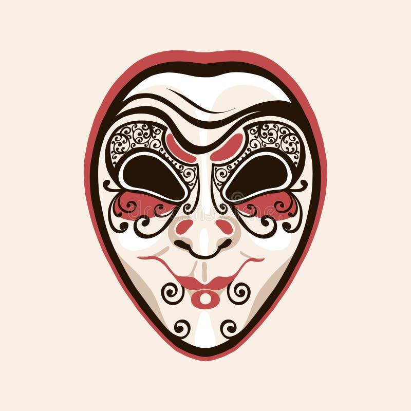 Dumbom för maskeringsclownjoker Ansiktsuttryckslughet, försåtligt som är slug royaltyfri illustrationer