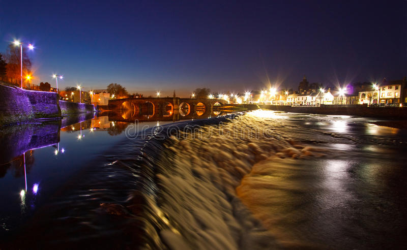 Dumfries at Night royalty free stock photos