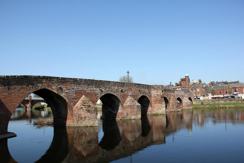 Dumfries - River Nith stock photo