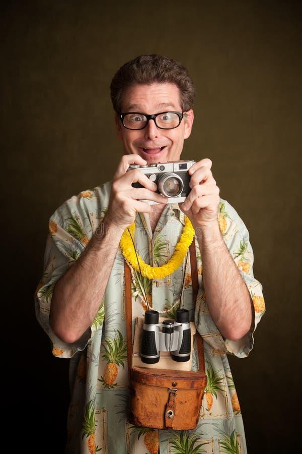 Dummer Tourist stockfoto