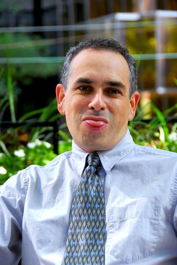 Dummes Gesicht des Geschäftsmannes stockfotografie