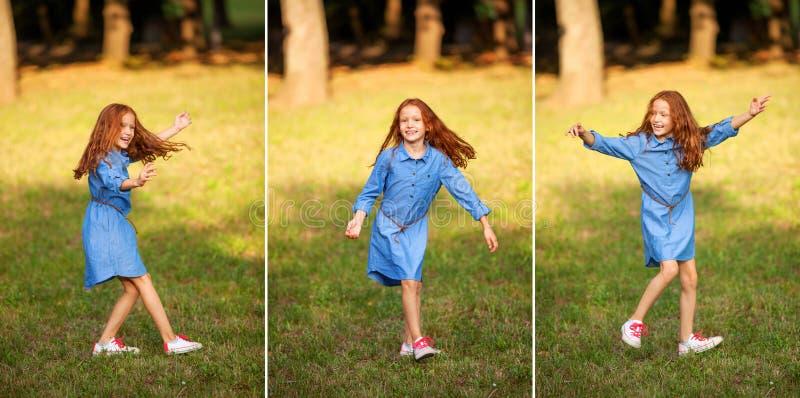 Dummes kleines rothaariges Mädchen lizenzfreie stockfotografie