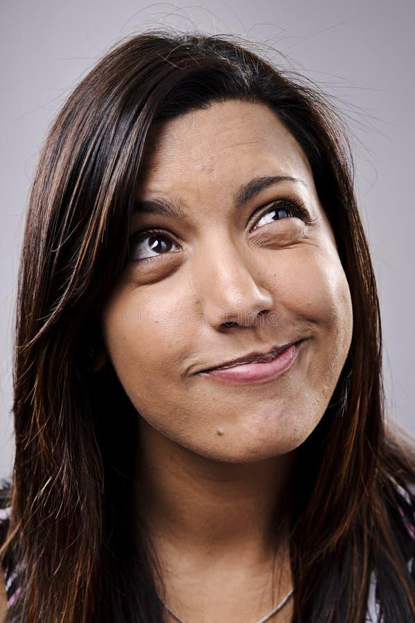 Dummes lustiges Gesicht stockbilder