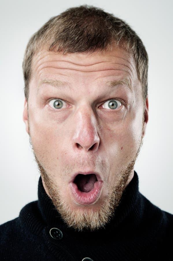 Dummes lustiges Gesicht stockfotografie