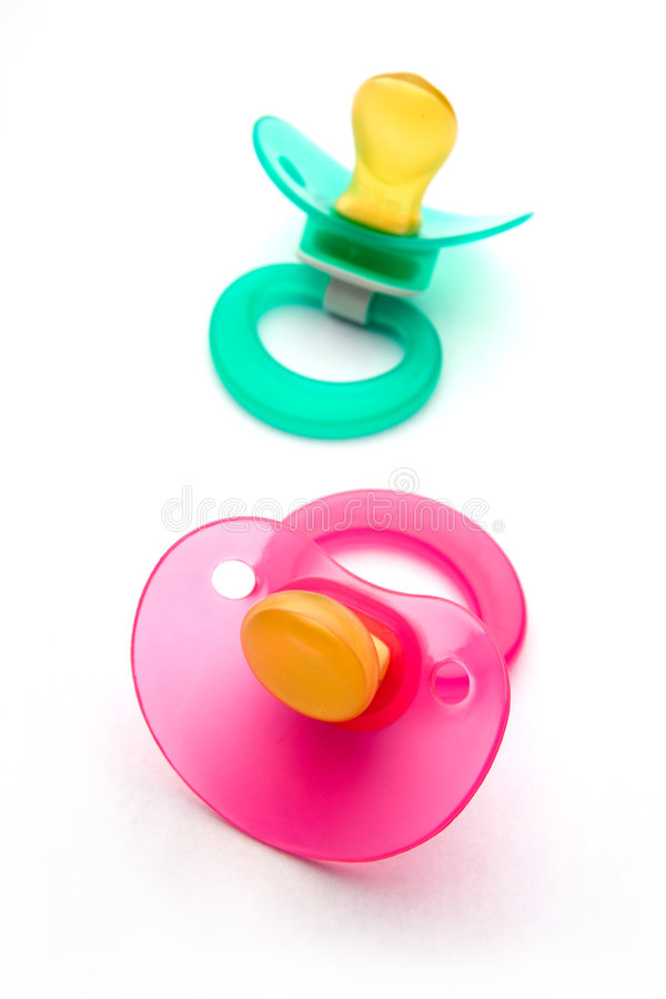 Dummies or pacifiers royalty free stock photos