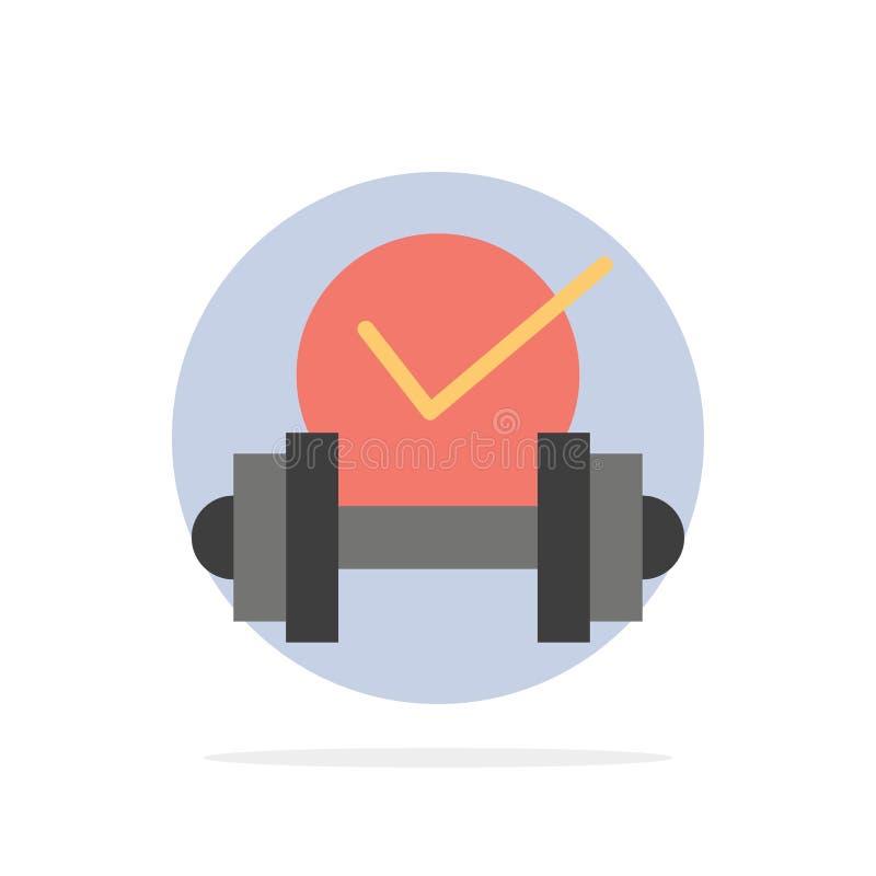 Dummkopf, Gesundheitswesen, stumm, flache Ikone Farbe des Sport-Zusammenfassungs-Kreis-Hintergrundes vektor abbildung