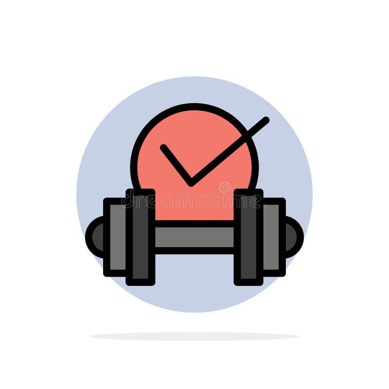 Dummkopf, Gesundheitswesen, stumm, flache Ikone Farbe des Sport-Zusammenfassungs-Kreis-Hintergrundes lizenzfreie abbildung