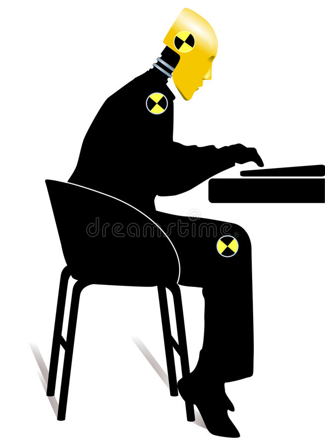 Dummy. Crash test, study, technology royalty free illustration